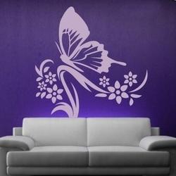 motyl w kwiatach 1249 naklejka