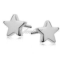 Kolczyki srebrne pr. 925 gwiazdki zapięcie sztyft