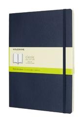 Notes Moleskine w miękkiej oprawie XL szafirowy gładki