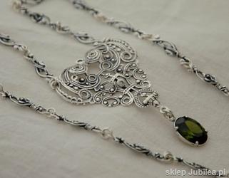 Srebrny naszyjnik z oliwinem - BUENOS