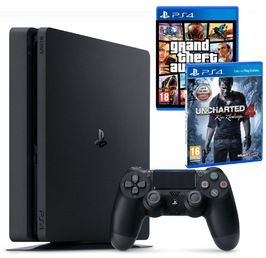 Konsola Sony PS4 1TB Slim + GTA V + Uncharted 4