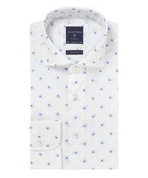 Biała koszula Profuomo typu Oxford w kwiaty 41