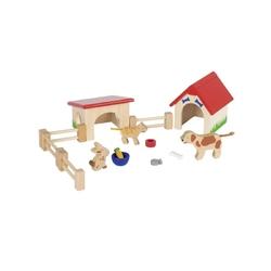 ZWIERZĄTKA DOMOWE drewniane figurki
