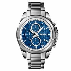 Zegarek MĘSKI ELEGANCKI SKMEI 1378 silverblue - silverblue