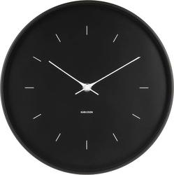Zegar ścienny Butterfly czarny 27,5 cm