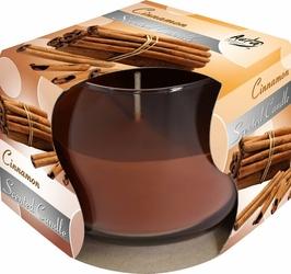 Bispol, świeca zapachowa w szkle, cynamon, 1 sztuka