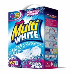 Multiwhite, proszek do prania białych tkanin, karton 5kg, 50 prań