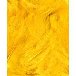 Dekoracyjne piórka puchate 3 g - żółte - ŻÓŁ