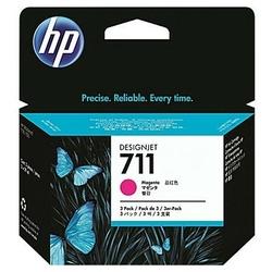 Tusze Oryginalne HP 711 CZ135A Purpurowe trójpak - DARMOWA DOSTAWA w 24h