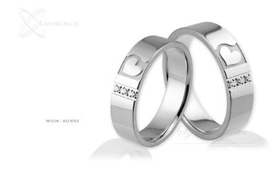 Obrączki ślubne - wzór Au-652