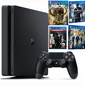 Konsola Sony PS4 1 TB Slim + 4 GRY Division, Uncharted 4, Far Cry, The Last