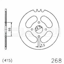 Zębatka tylna stalowa JT 20-0268-46, 46Z rozmiar 415 2302589 Hercules Prima 25