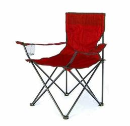 Krzesło Wędkarskie, ogrodowe, piknikowe - czerwony