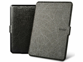 Etui Alogy Leather Smart Case Kindle Paperwhite 123 Czarne + Szkło - Czarny