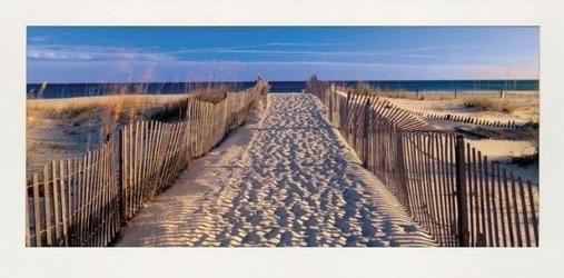 Ślady stóp na plaży - reprodukcja