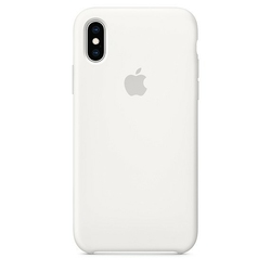 Apple Etui silikonowe iPhone XS - białe