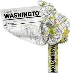 Mapa Crumpled City Waszyngton