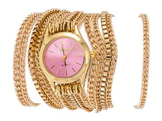 Zegarek chains pink - PINK