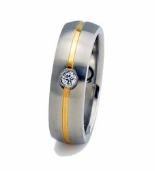 pierścionek magnetyczny 366 z cyrkonią Swarovskiego