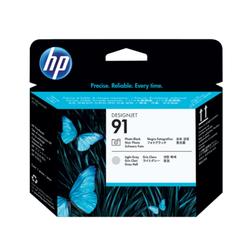 HP 91 głowica drukująca: czarny fotograficzny i jasny szary