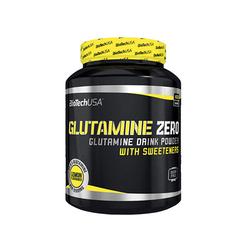 Biotech Glutamine Zero 600g Czysta Glutamina USA - Peach Ice Tea