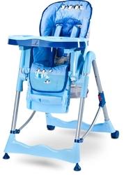 Krzesełko do karmienia Caretero Magnus Fun Niebieskie + PUZZLE