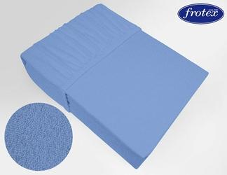 Prześcieradło frotte z gumką Frotex niebieskie 011 - niebieski