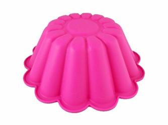 Silikonowa forma do pieczenia ciasta babka -Różowa