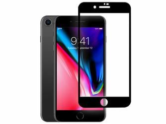 Szkło Mocolo 3D na cały ekran Apple iPhone 8 czarne - Czarny
