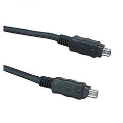 FireWire kabel IEEE 1394, IEEE 1394 4pin M- IEEE 1394 4pin M, 2m, czarny, Logo, blistr