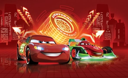 Auta Cars Disney Neony - fototapeta