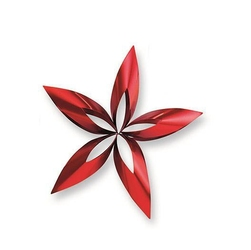 Ozdoba choinkowa gwiazdka STELLA, czerwona L
