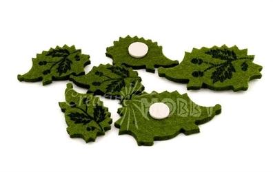 Filcowe jeżyki z przylepcem 36 szt. - zielone