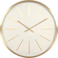 Zegar ścienny Maxiemus brass station Karlsson 60cm biały KA5579WH