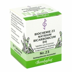 Biochemie 23 Natrium bicarbonicum D 6 Tabl.