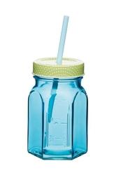Słoik do serwowania ze słomką Coolmovers niebieski