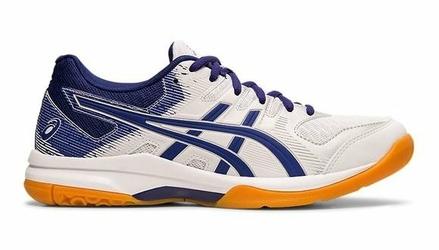 Buty sportowe damskie Asics GEL-ROCKET 9 biało-niebieskie syntetyczne