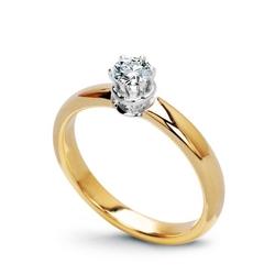 pierścionek żółte i białe złoto 75018k i diament