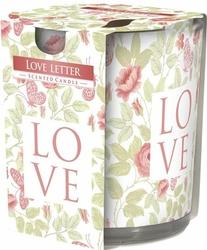 Bispol, sn72s, Świeca zapachowa w szkle, List miłosny, 1 sztuka