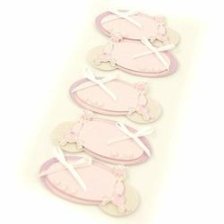 Naklejki dla dzieci 3D etykiety dla dziewczynki 5 szt. - różowe