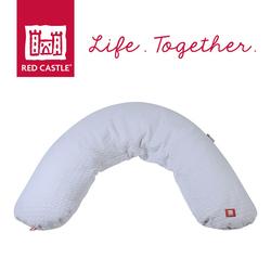 Poduszka rogal dla kobiet w ciąży i karmiących Big Flopsy Fleur de coton grey, Red Castle