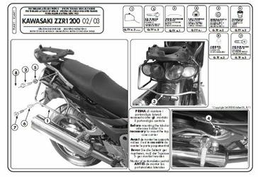 Kappa KL441 Stelaż boczny Kawasaki Zzr 1200 02  05