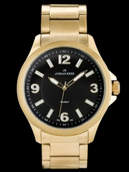 Złoty zegarek Damski bransoleta JORDAN KERR - S0915 zj748a - stalowy