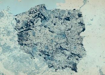 Polska - mapa w kolorze - fototapeta