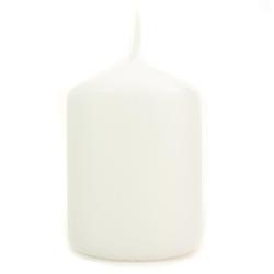 Biała świeca ozdobna - walec 70100 mm - 70100