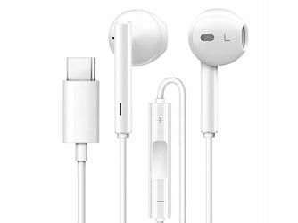Słuchawki przewodowe do Huawei CM33 USB-C Type C mikrofon + pilot białe
