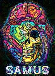 PsychoSkulls, Samus, Metroid - plakat Wymiar do wyboru: 40x60 cm