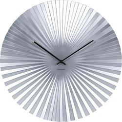 Zegar ścienny Sensu srebrny 50 cm