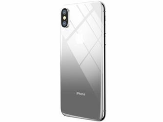 Baseus gradient szkło hartowane 9H na tył iPhone X Xs czarne - Czarny