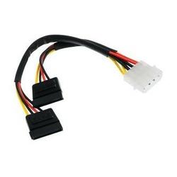 Kabel do dysku twardego napájecí, DC SATA 2x M- DC 5,25quot M, 0.2m, color
